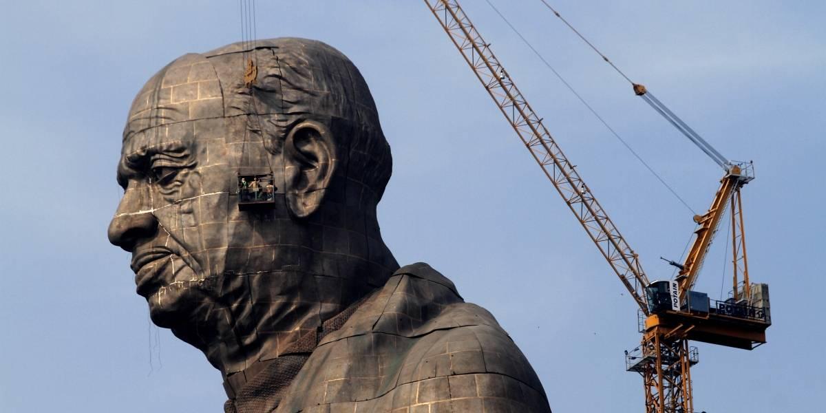 Con 182 metros y más de 400 millones de dólares de inversión :India levanta la estatua más alta del mundo