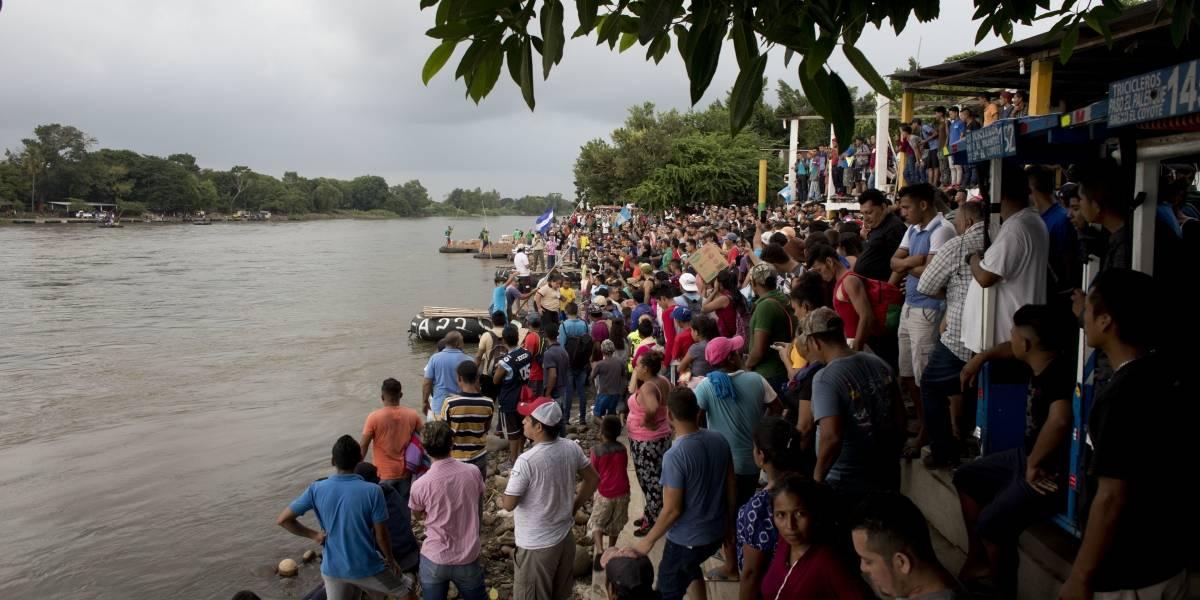 México recibe a la avanzada de caravana de migrantes hondureños