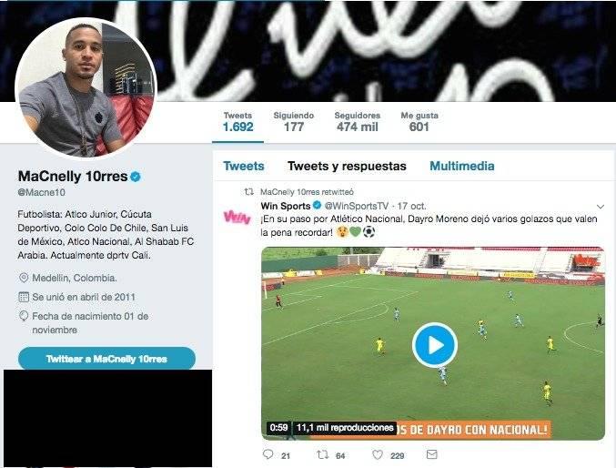 Macnelly Torres a Dayro Moreno por su salida de Nacional