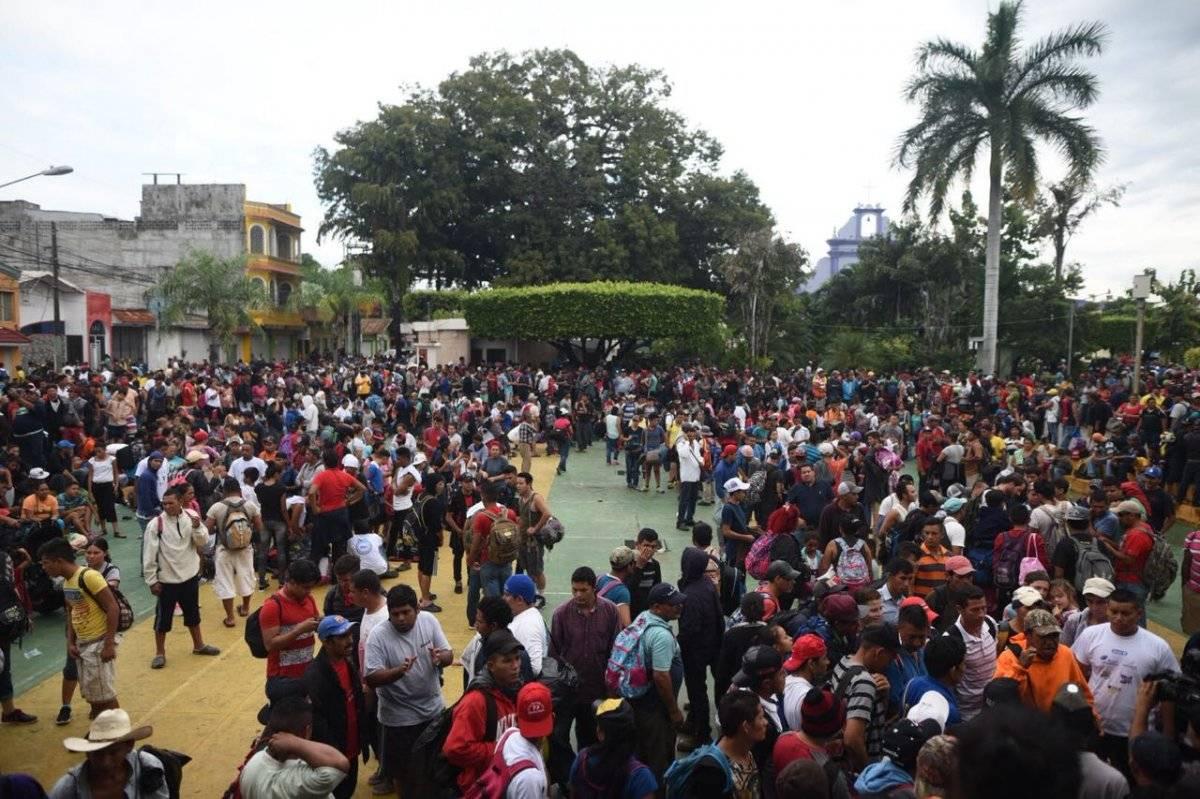 caravana de migrantes hondureños llega a frontera de Tecún Umán