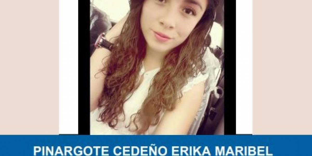Erika Pinargote, reportada como desaparecida desde 2017, fue localizada en Guayllabamba