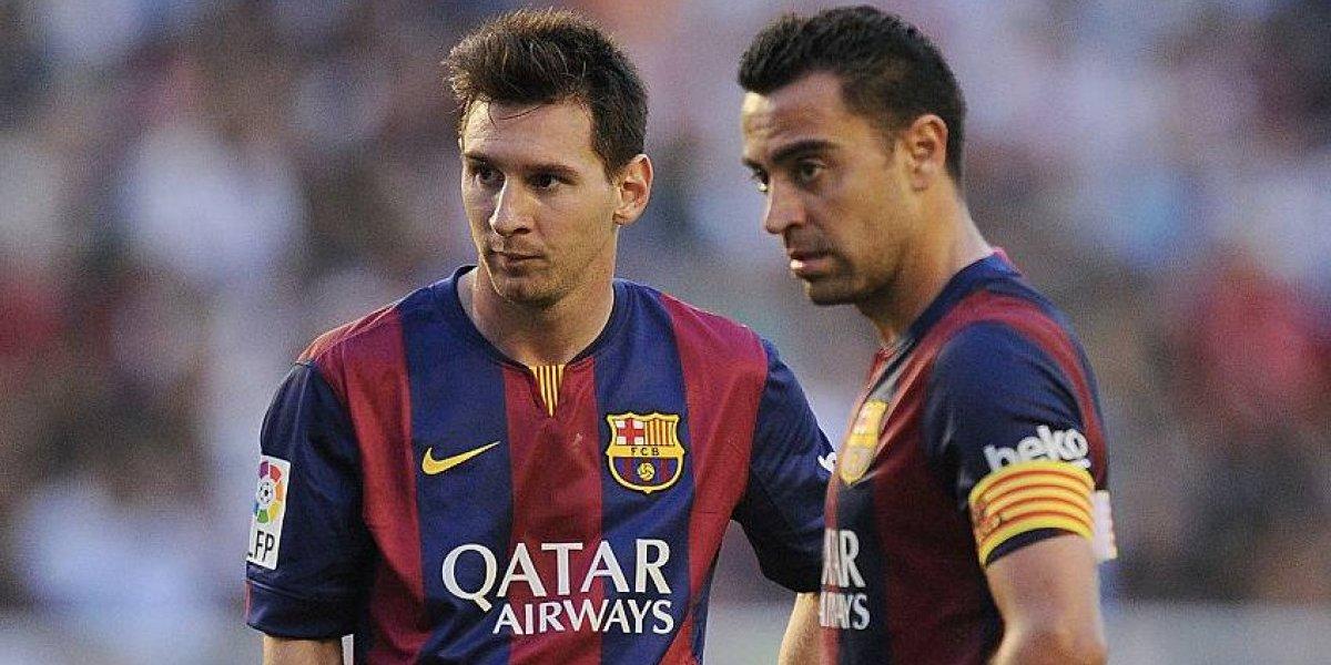 """Xavi asiste a Messi como en el Barça y lo defiende del ataque de Maradona: """"Es un líder bestial"""""""