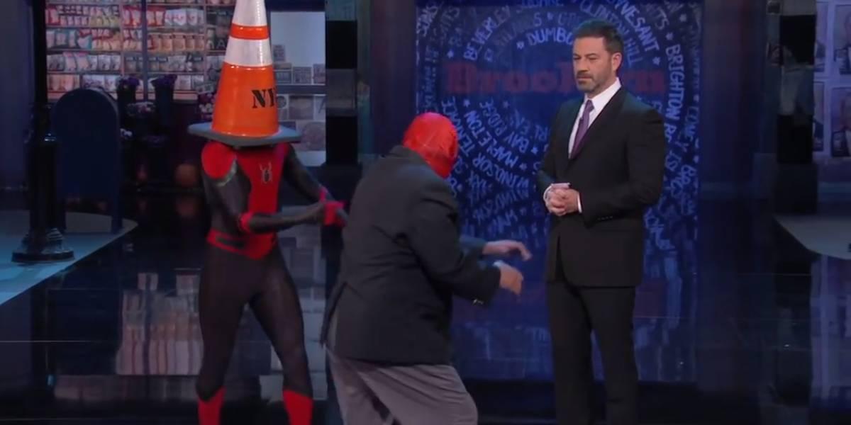 Tom Holland muestra su nuevo traje para Spider-Man: Far From Home con Jimmy Kimmel