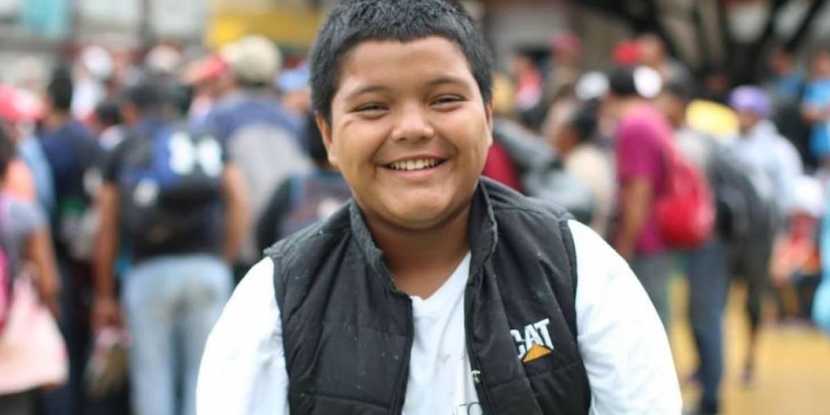 Caravana de migrantes: Mario Castellanos, el niño que viaja solo hacia Estados Unidos