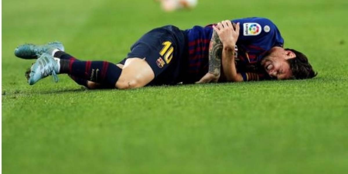 Messi se lesionó el radio a una semana del clásico y estará fuera por tres semanas
