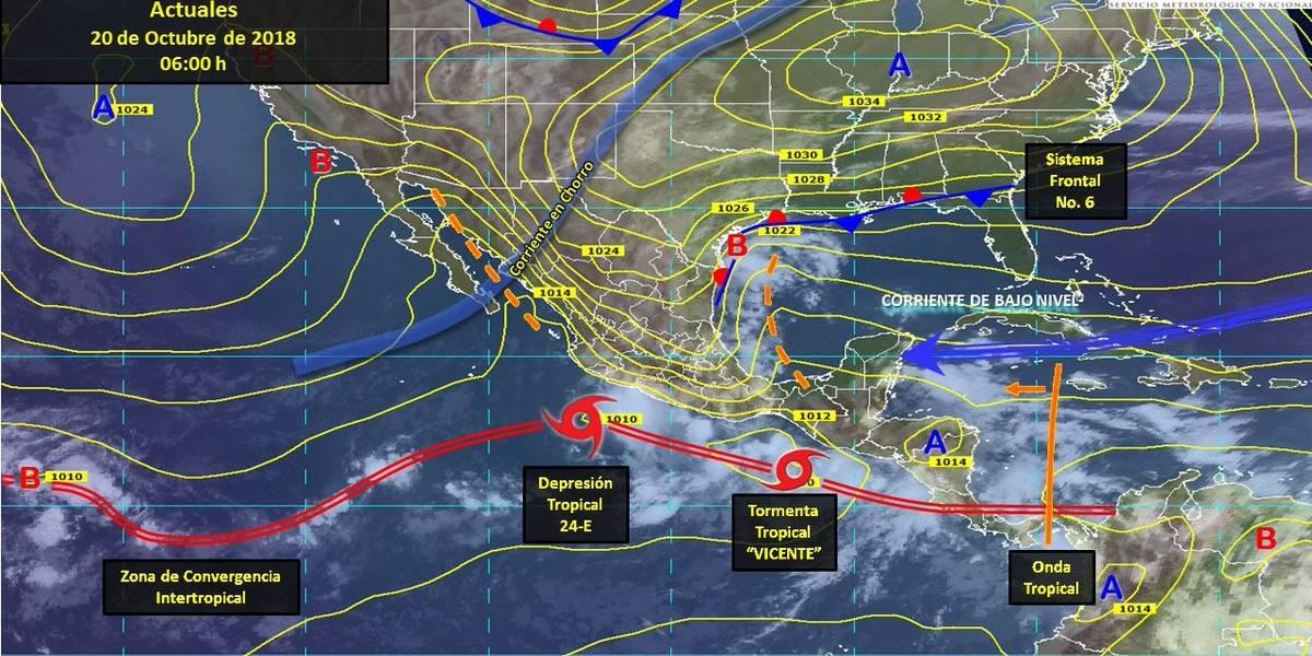 Pronostican tormentas de fuertes a torrenciales en 25 estados