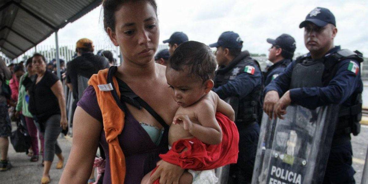 Más de 600 migrantes hondureños solicitan refugio en México