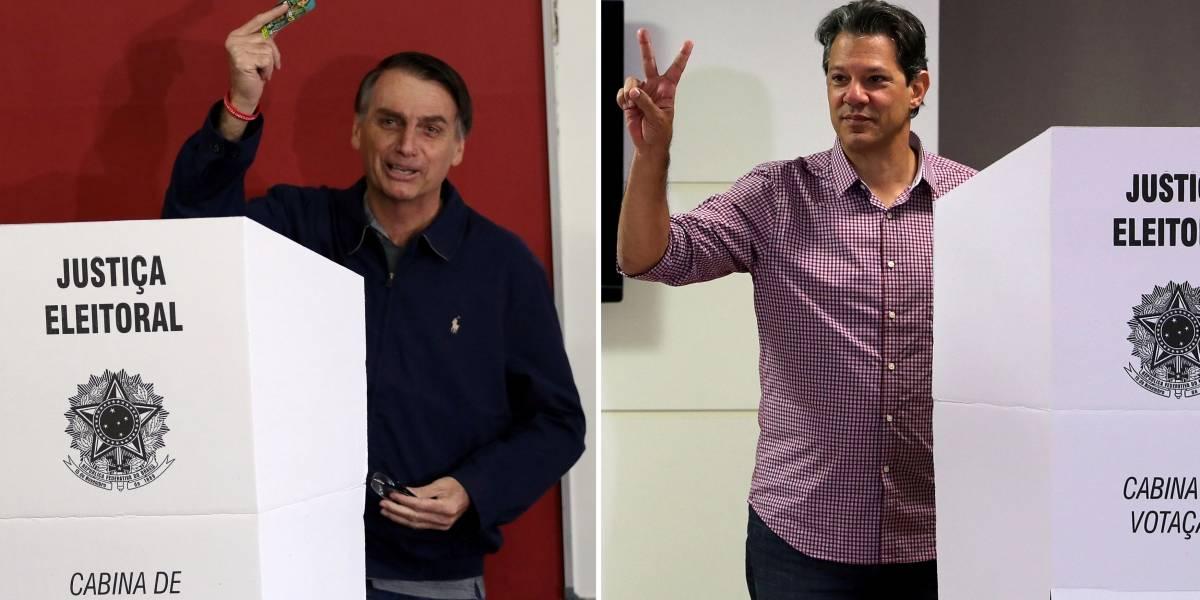 Eleições 2018: CNT/MDA mostra Bolsonaro com 56,8% e Haddad com 43,2% dos votos válidos