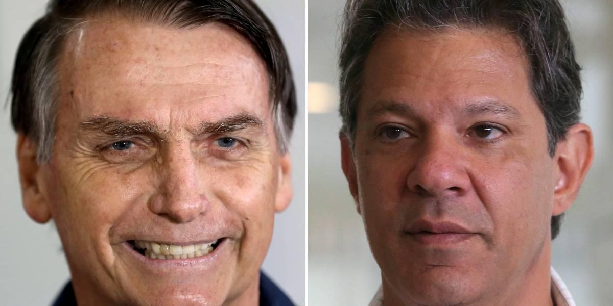 CNT/MDA: Bolsonaro tem 57% dos votos válidos contra 43% de Haddad