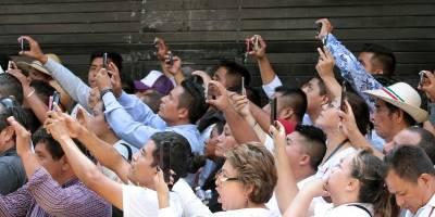 A ritmo de tambores, jóvenes piden apoyo a AMLO en Chiapas