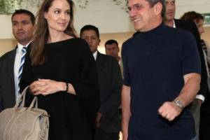 Angelina Jolie con el excanciller, José Patiño