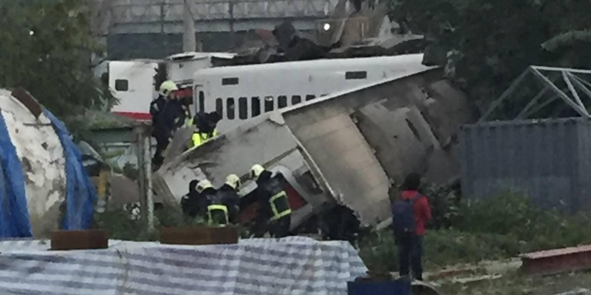 18 muertos y 160 heridos por descarrilamiento de tren en Taiwán
