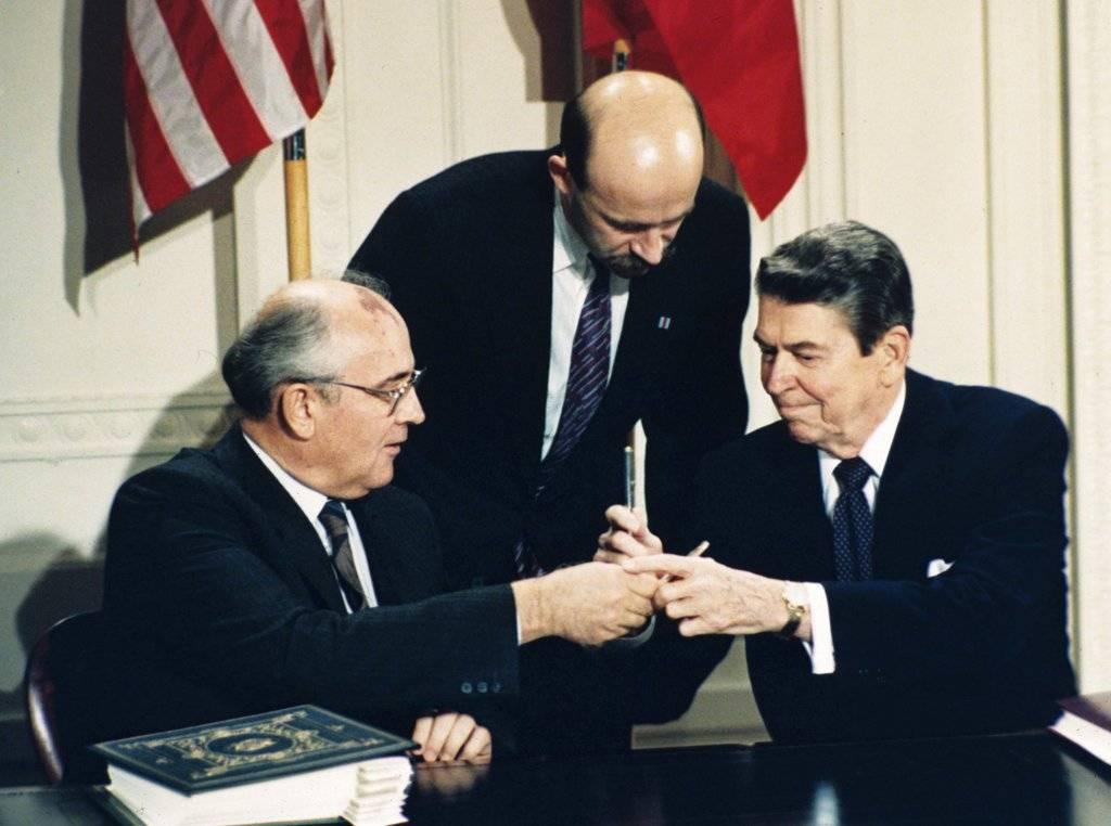 Tratado de Fuerzas Nucleares de Rango Intermedio 1987 Foto: AP