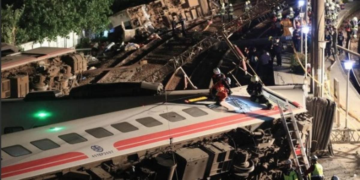 Taiwán: descarriló un tren y murieron 18 personas