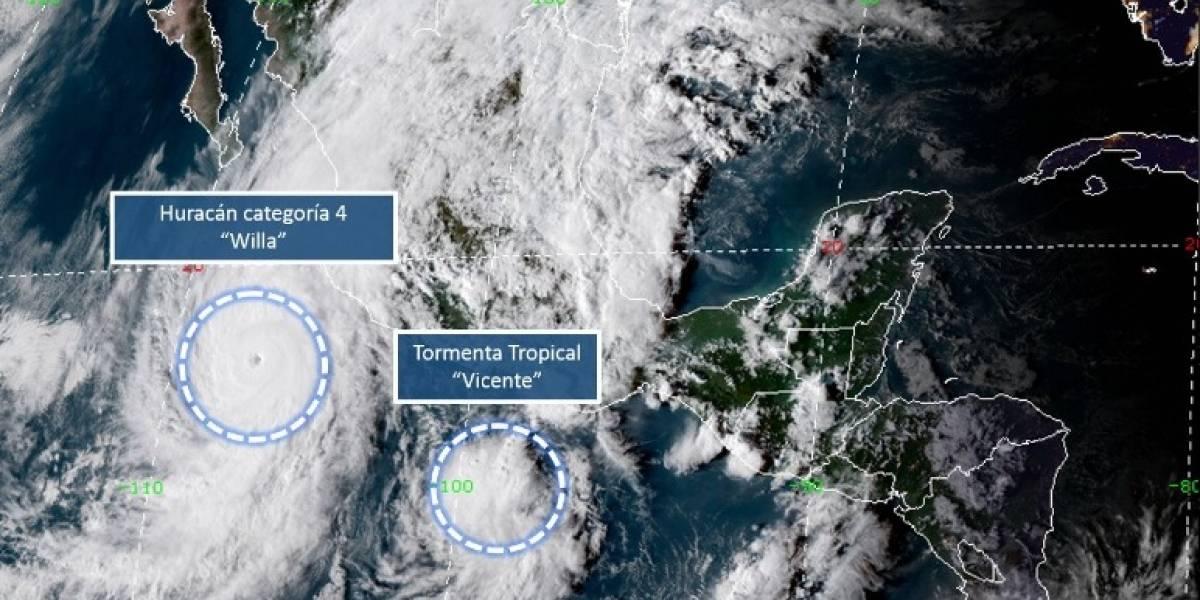 'Willa' se fortalece y sube categoría 4 frente a Jalisco