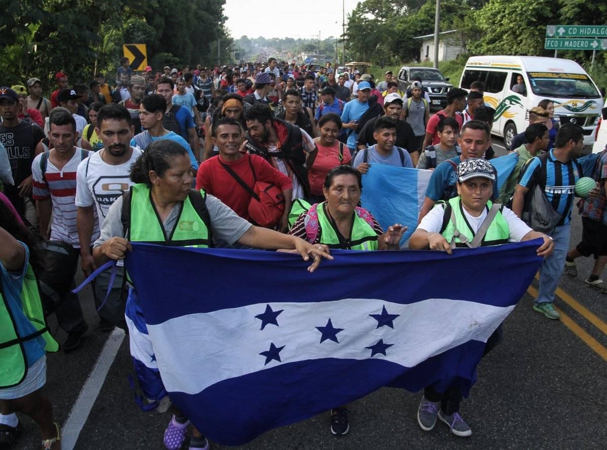 La caravana tiene como destino Guatemala nuevamente. Foto: Cuartoscuro