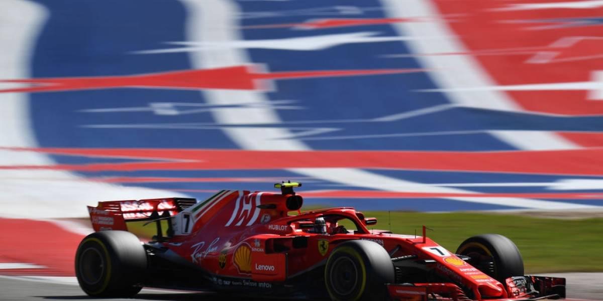 Fórmula Uno: Raikkonen festeja en Austin y Hamilton quedó a un paso del título