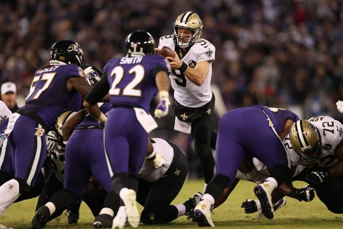 Saints 24-23 Ravens / Getty Images