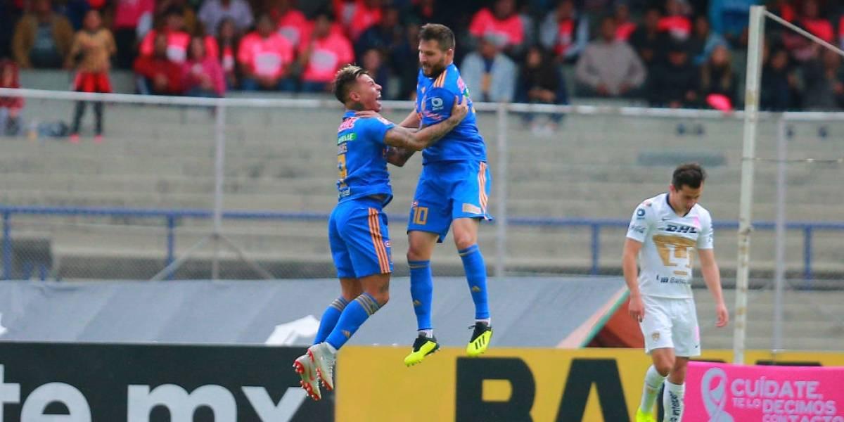 Eduardo Vargas se despacha un golazo en vibrante empate entre Pumas y Tigres