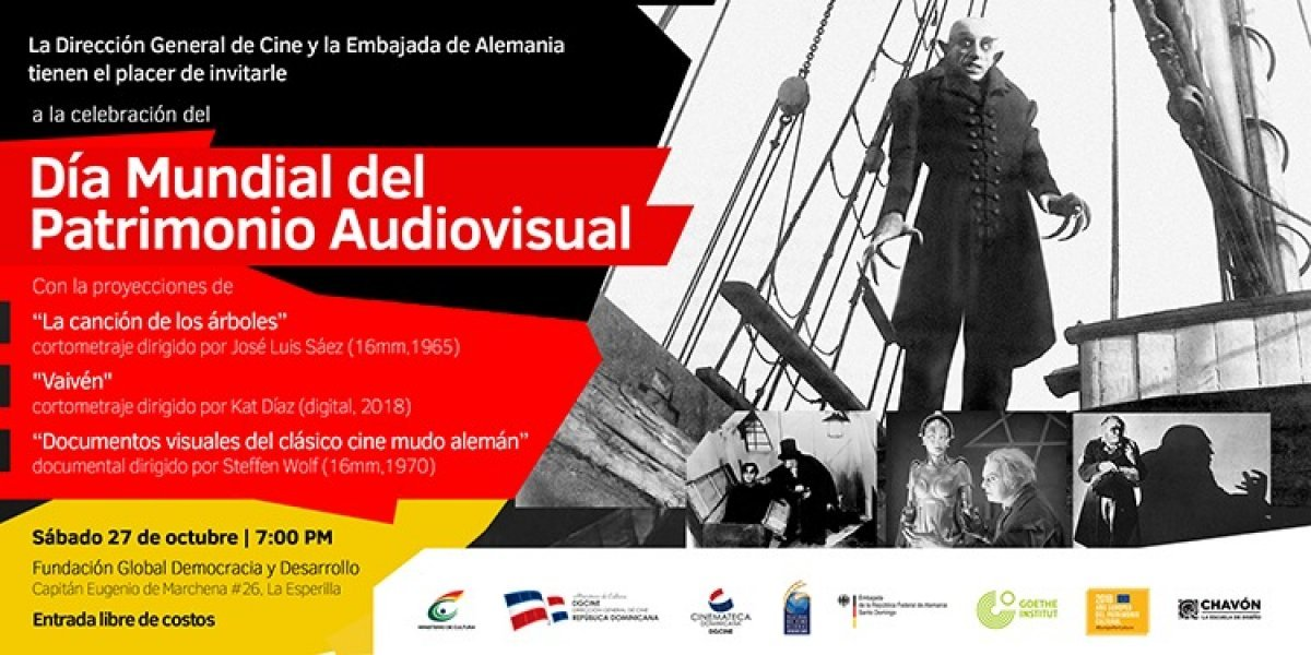 """DGCINE y la Embajada de Alemania celebrarán """"Día Mundial del Patrimonio Audiovisual"""""""