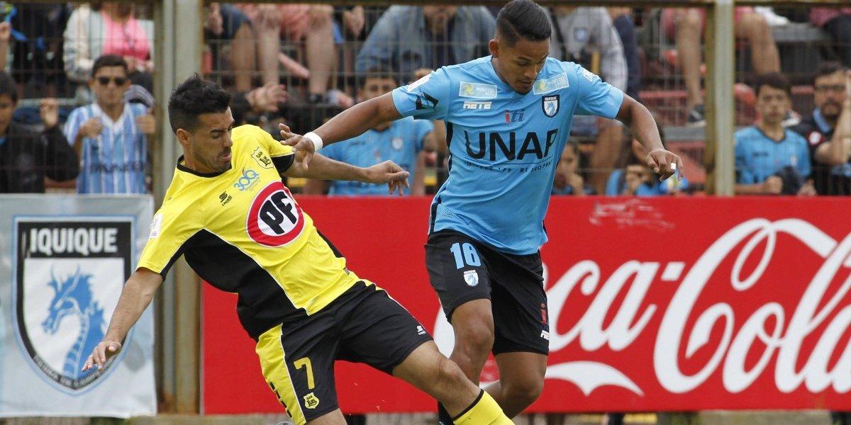 San Luis de Quillota rescató agónico empate ante Iquique pero sigue siendo colista del campeonato
