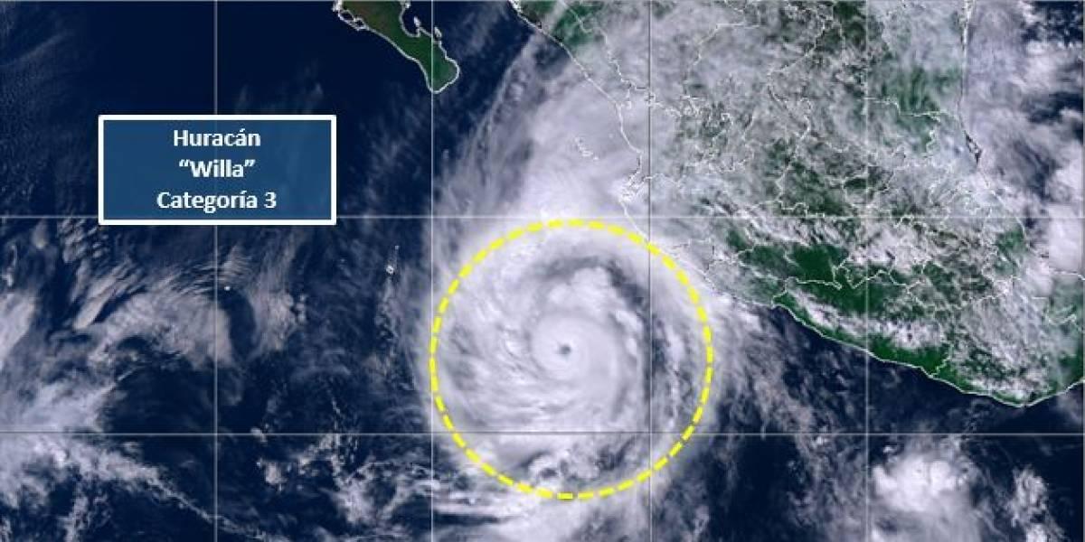Willa se intensifica a categoría 3 frente a costas de Jalisco