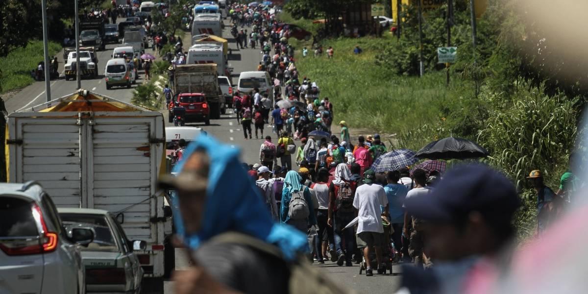Muere joven hondureño al caer de auto de la Caravana Migrante en Chiapas