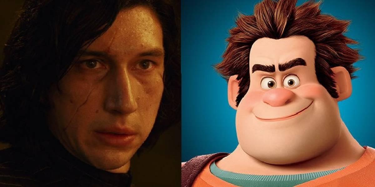 Disney prohibió la aparición de un chiste sobre Kylo Ren en Ralph el Demoledor 2