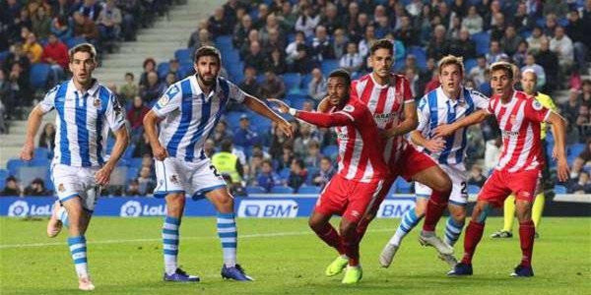 Sin Moreno, Real Sociedad iguala ante el Girona