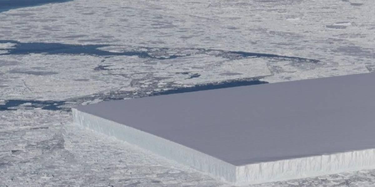 Halla la NASA extraño y perfectamente rectangular iceberg