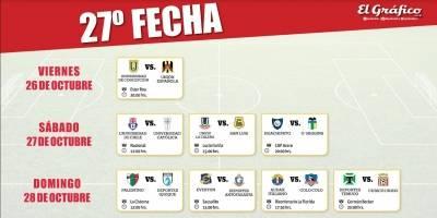 Con el Clásico Universitario como plato principal: La programación de la 27ª fecha del Campeonato Nacional