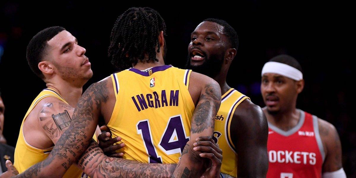 Jugadores de los Lakers y los Rockets fueron castigados con partidos y sueldo por bochornosa pelea