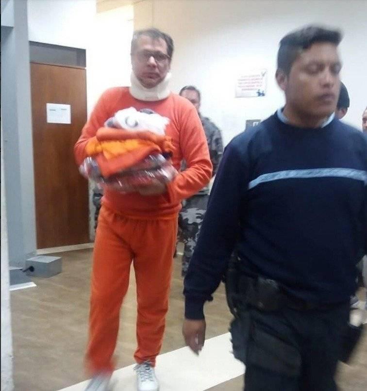 Jorge Glas en la cárcel en Latacunga