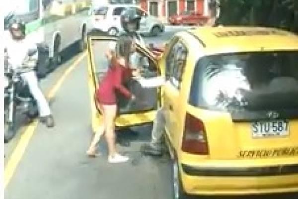 Taxista golpeó a mujer