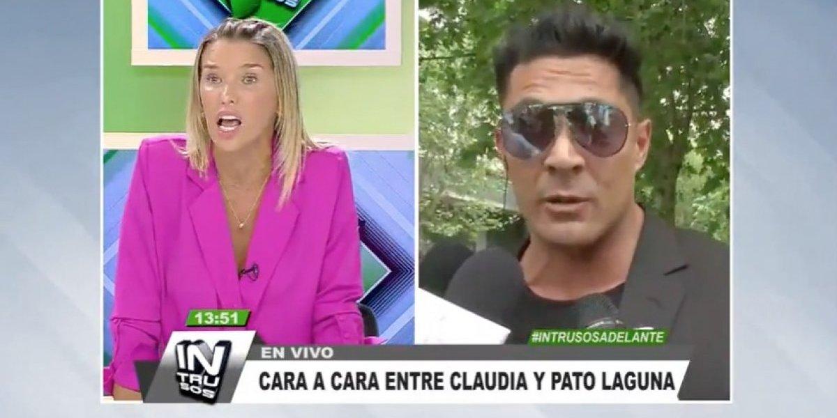 Claudia Schmidt y Patricio Laguna protagonizan duro enfrentamiento durante despacho en vivo