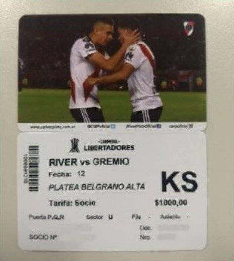 Quintero y Borré en entradas de River VS Gremio