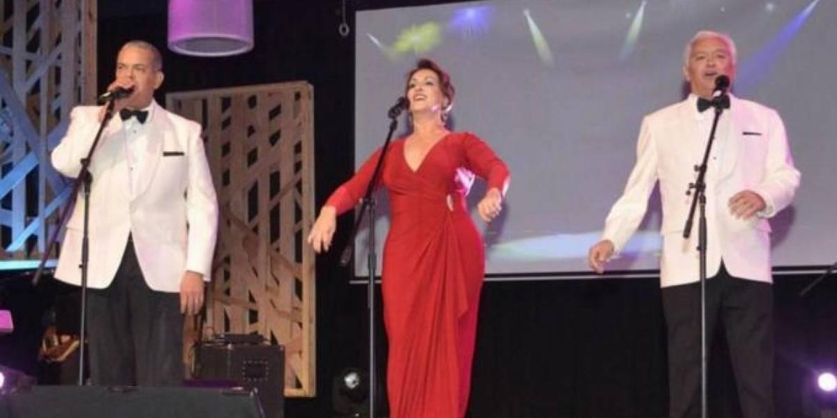 Cecilia, Boruga y Cuquín en un show impresionante