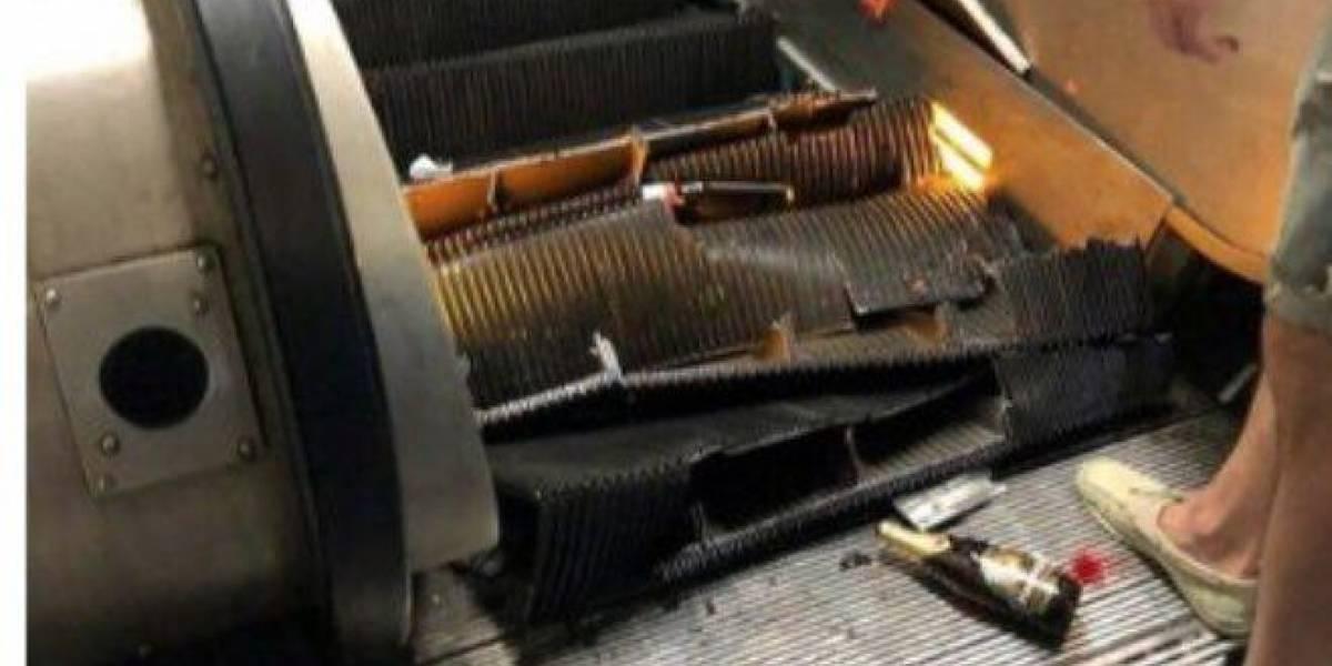 Escenas de terror: escalera eléctrica del metro de Roma se descontrola y deja a decenas de heridos