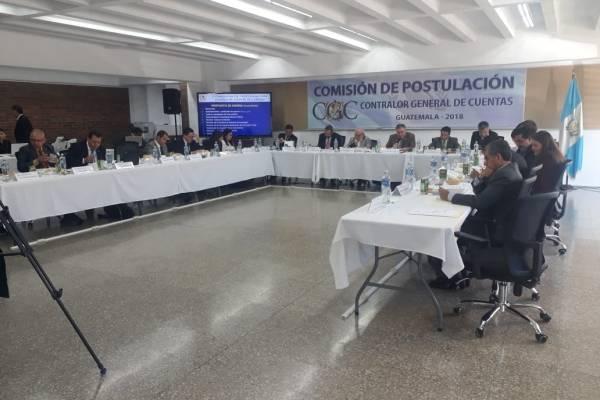 Comisión de Postulación a aspirantes a Contralor General de Cuentas