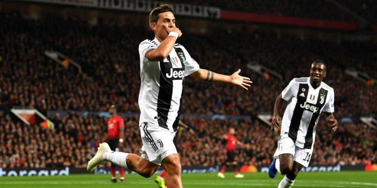 Juventus se aprovechó del pésimo momento de Manchester United y le pegó duro en la Champions League