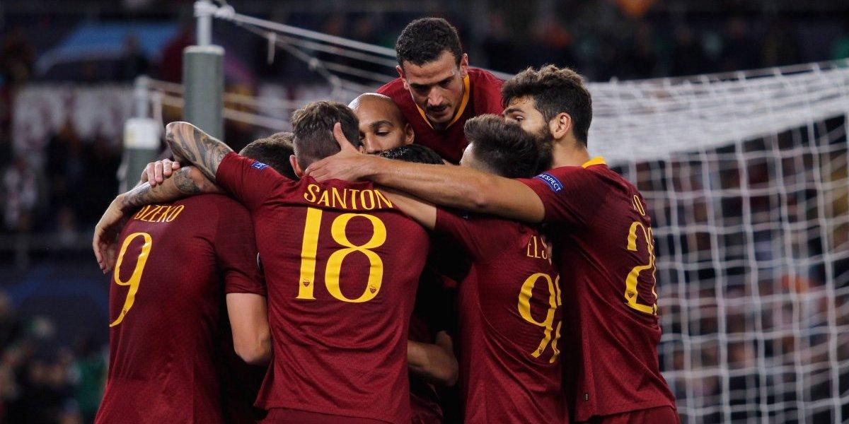La Roma golea al CSKA Moscú y es líder de grupo