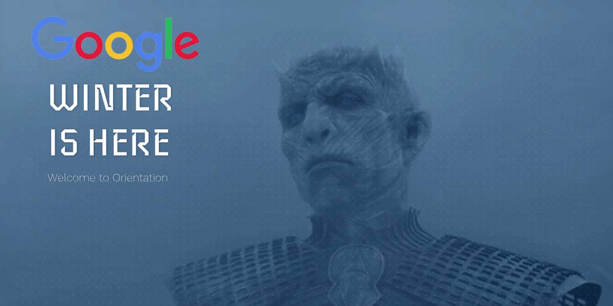 El Night King de Game of Thrones usa una Google para reclutar