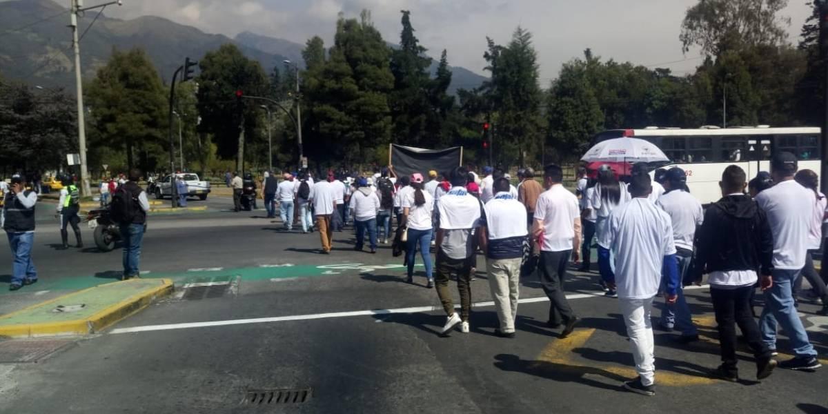Quito: Calles cerradas por marcha de transportistas