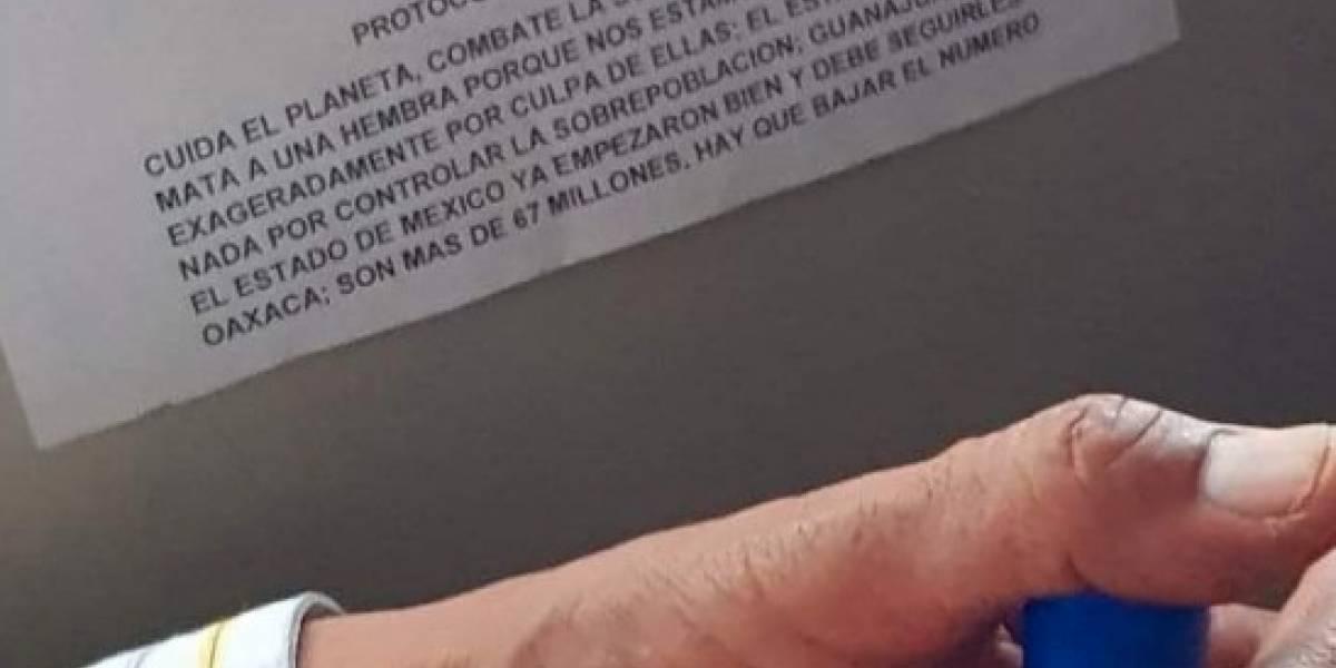 Alerta por mensaje feminicida en autobús de Oaxaca