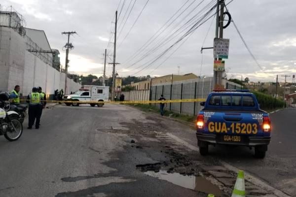 ataque armado en zona 5 de Villa Nueva