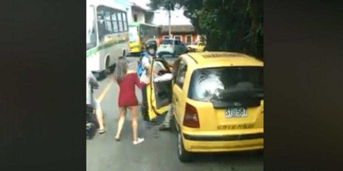 La verdad de la agresión a una mujer por parte de un taxista en Medellín
