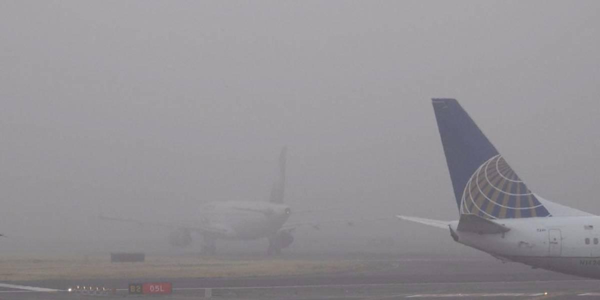 Operaciones en el AICM fueron suspendidas dos horas por niebla