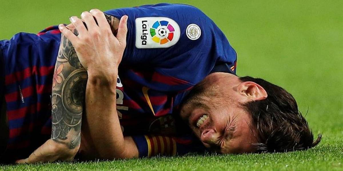 ¡Revelan primeras imágenes de Messi tras su fractura!