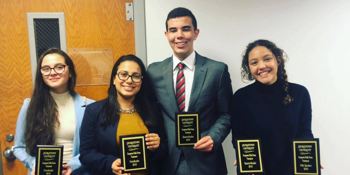 Estudiantes del New Horizons se destaca de nuevo en Georgetown University