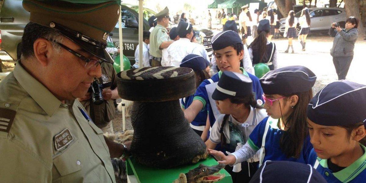 """Brigadas escolares siguen de pie: más de mil niños recibieron """"uniforme"""" de manos de Carabineros"""